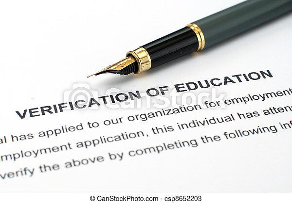 Verification of education  - csp8652203