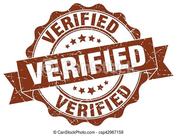 verified stamp. sign. seal - csp42967159