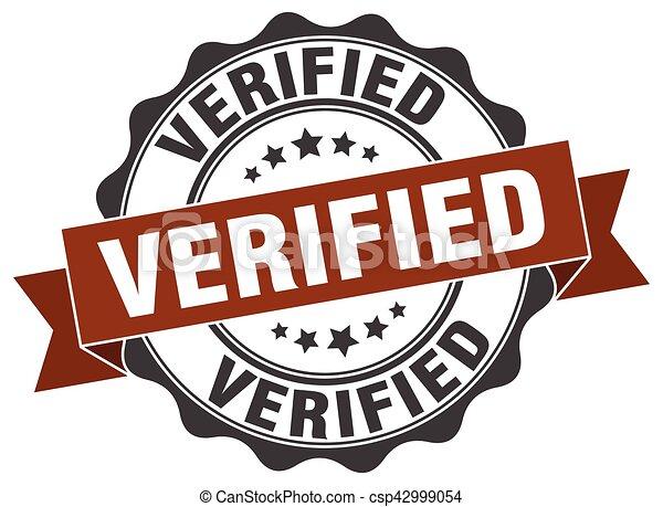 verified stamp. sign. seal - csp42999054