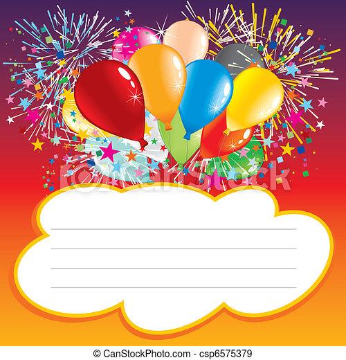 verjaardag kaart - csp6575379