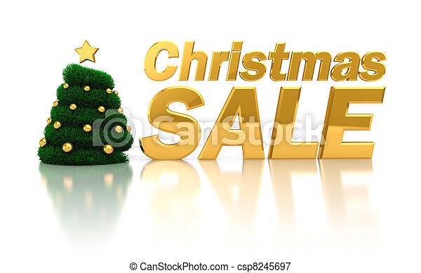 verkauf, weihnachten, zeichen - csp8245697