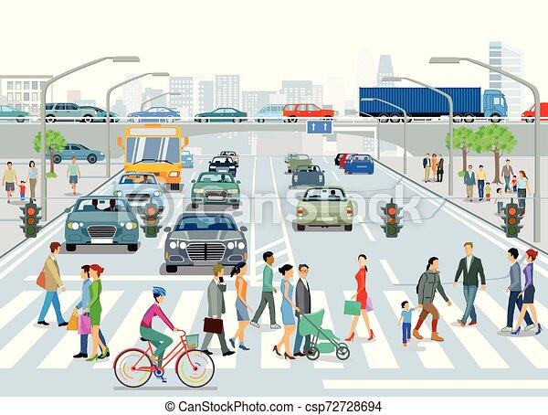 - Verkehr en der Stadt.eps - csp72728694