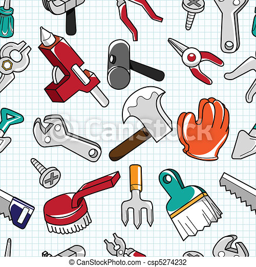 verktyg, mönster, seamless - csp5274232