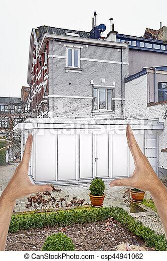 Superb Verlängerung, Haus, Modern, Geplant, Neu , Renovierung   Csp44941062