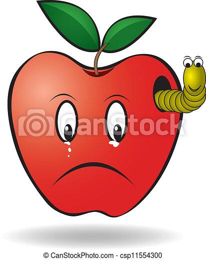 verme, maçã - csp11554300