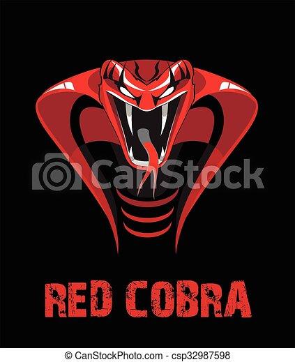 vermelho, cobra.eps - csp32987598