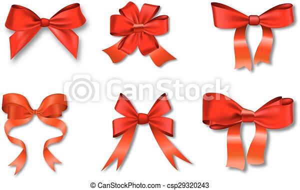 vermelho, jogo, arcos, presente, ribbons. - csp29320243