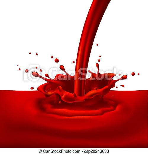 vermelho, respingue, pintura - csp20243633