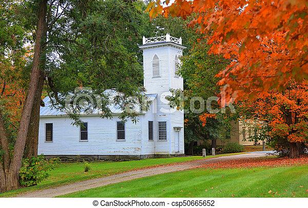 vermont, histórico, royalton, igreja - csp50665652