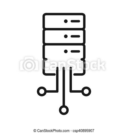 Vernetzung, datenbank. Vektor, design, vernetzung, abbildung, datenbank.