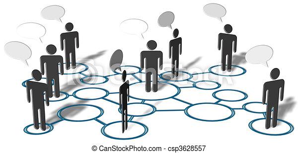 Die Leute reden über soziale Medienverbindungen - csp3628557