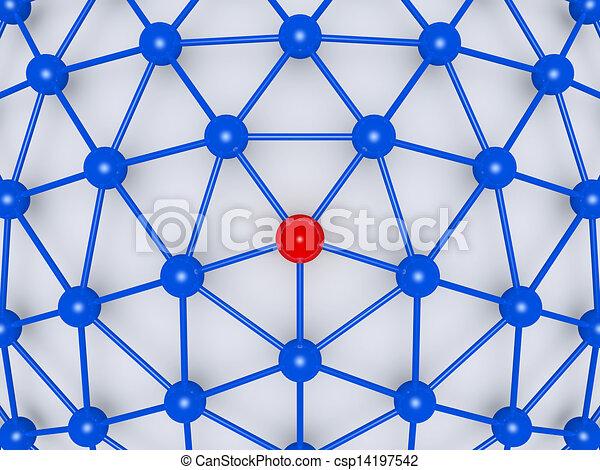 vernetzung, zentrieren, führer - csp14197542