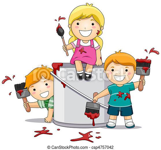 vernice, bambini, gioco - csp4757042