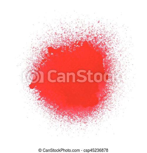 Vernice Spruzzo Sfondo Bianco Rosso Fondo Spruzzo Bianco