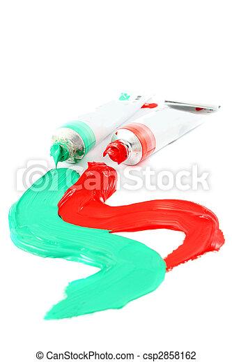 vernici, artist\'s, colorito - csp2858162