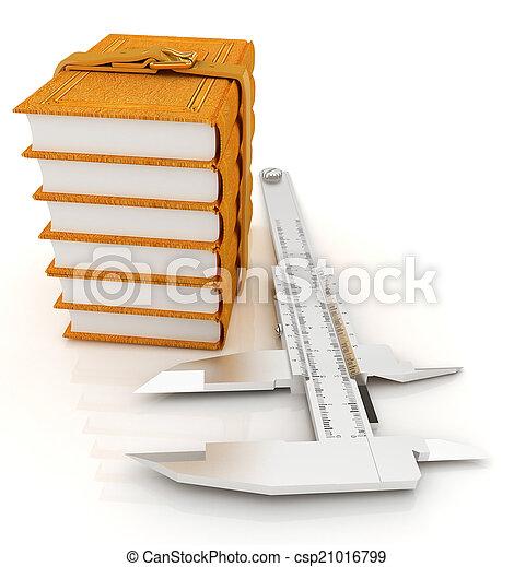 Vernier caliper and leather professional books. Best professiona - csp21016799