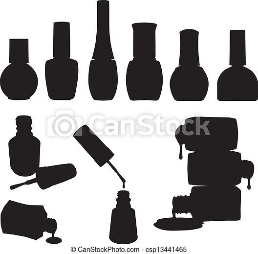 vernis à ongles, ensemble, bouteilles, vecteur - csp13441465