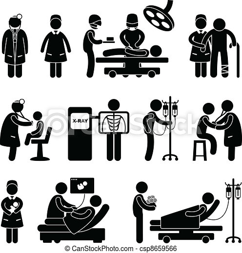 verpleegkundige, ziekenhuis, chirurgie, arts - csp8659566