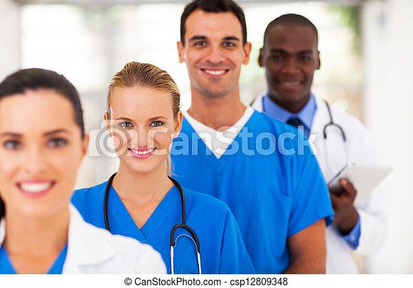 verpleegkundigen, medisch, groep, artsen - csp12809348