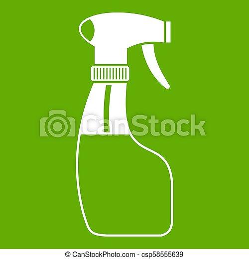 verpulveren, groene, pictogram - csp58555639