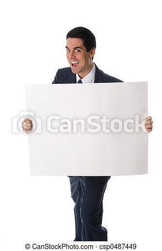 Verrückter Mann mit Karte - csp0487449