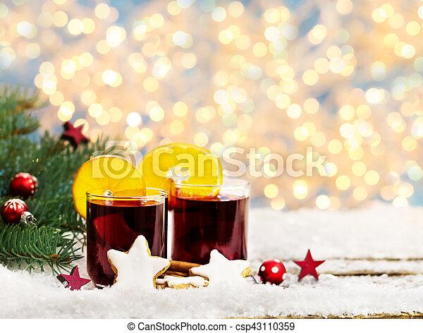 verrührt, weihnachtsmarkt, wein - csp43110359