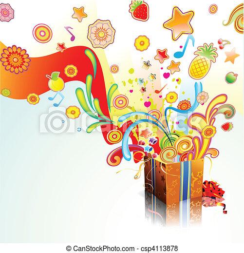 verrassing, cadeau - csp4113878