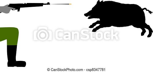 verrat, chasse - csp8347781