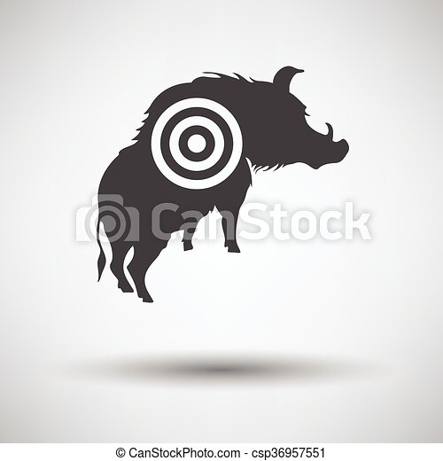 verrat, silhouette, cible, icône - csp36957551