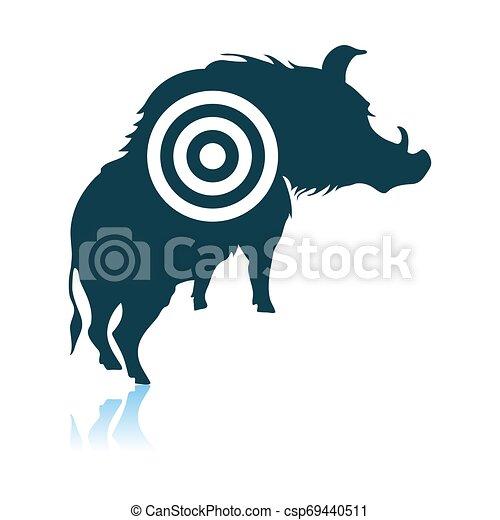 verrat, silhouette, cible, icône - csp69440511