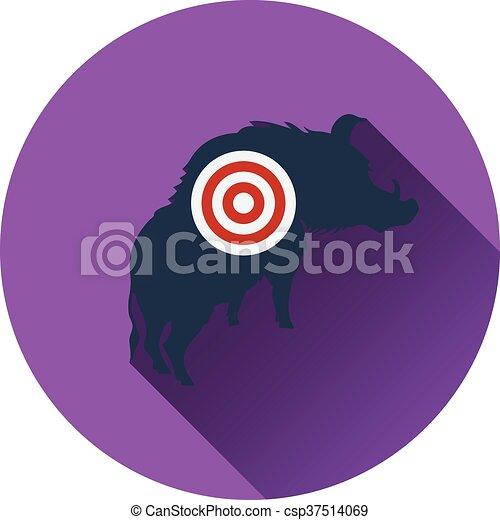 verrat, silhouette, cible, icône - csp37514069