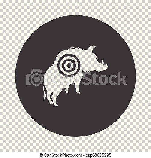 verrat, silhouette, cible, icône - csp68635395