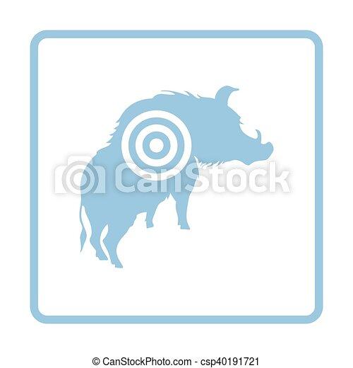 verrat, silhouette, cible, icône - csp40191721