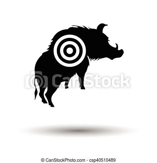 verrat, silhouette, cible, icône - csp40510489