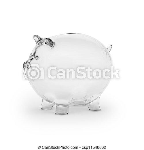 verre, banque, porcin, vide - csp11548862
