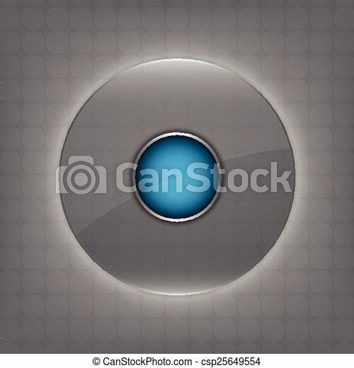 verre, bouton, cercle, transparent - csp25649554