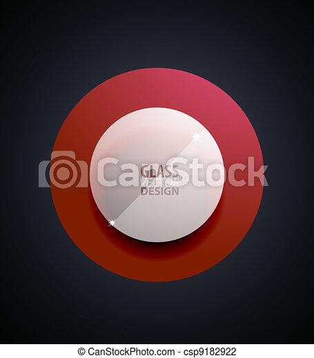 verre, bouton, transparent - csp9182922