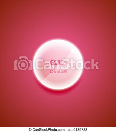 verre, bouton, transparent - csp9139733