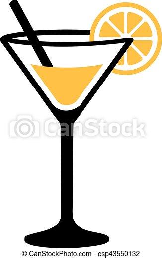 Verre cocktail margarita - Dessin cocktail ...