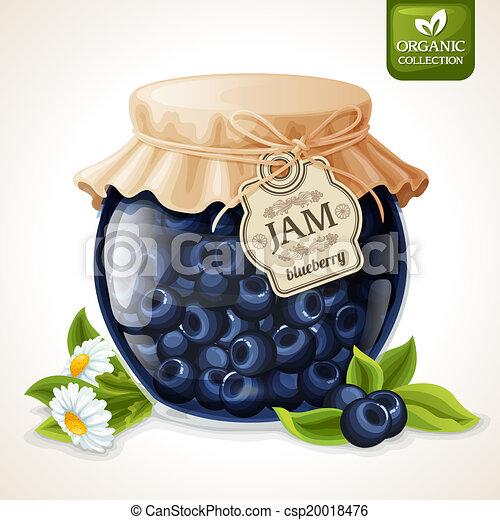 Clipart : pot de confiture - Jam pot png - Mermelada