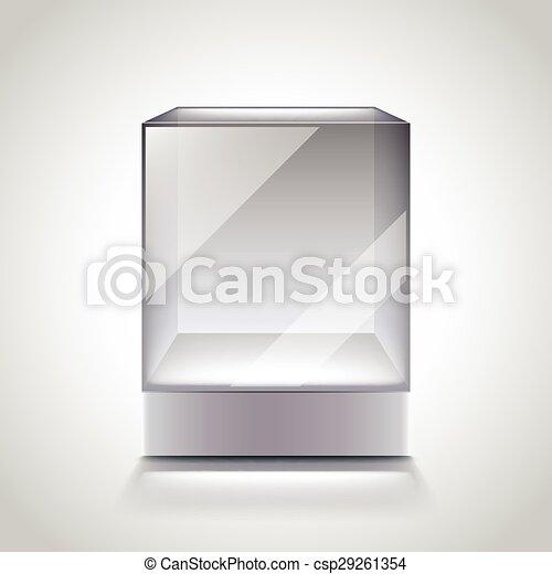 clipart vecteur de verre cube vide vitrine cube vitrine photo verre csp29261354. Black Bedroom Furniture Sets. Home Design Ideas