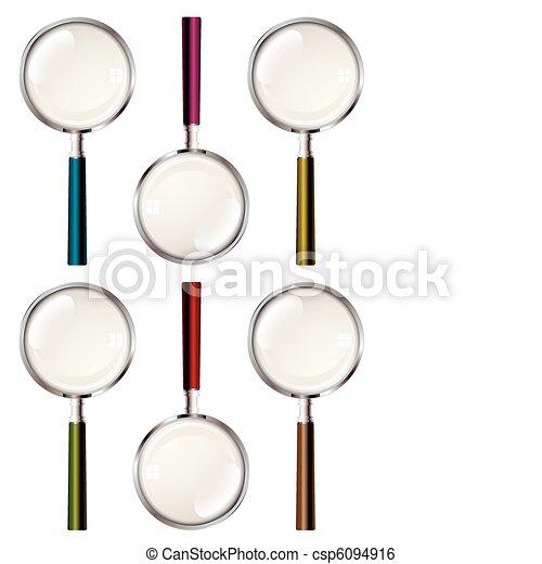 verre, magnifier, collection - csp6094916
