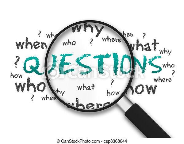 verre, -, magnifier, questions - csp8368644