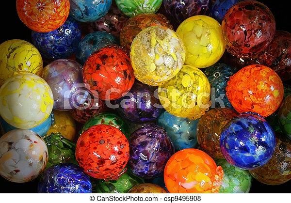 verre, multi, balles, coloré, soufflé - csp9495908