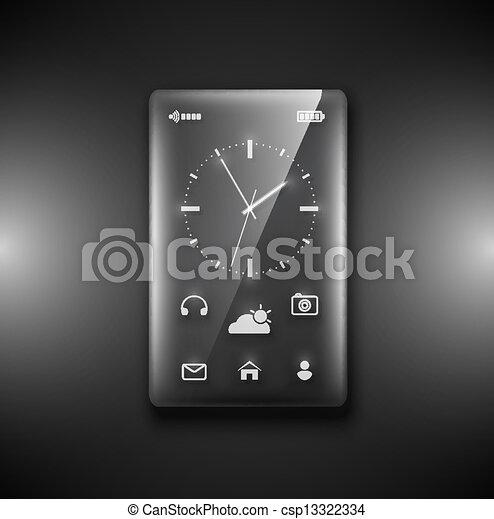 verre, transparent, téléphone - csp13322334