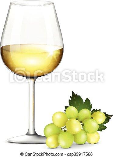 verre vin blanc verre blanc vecteur illustration vin. Black Bedroom Furniture Sets. Home Design Ideas