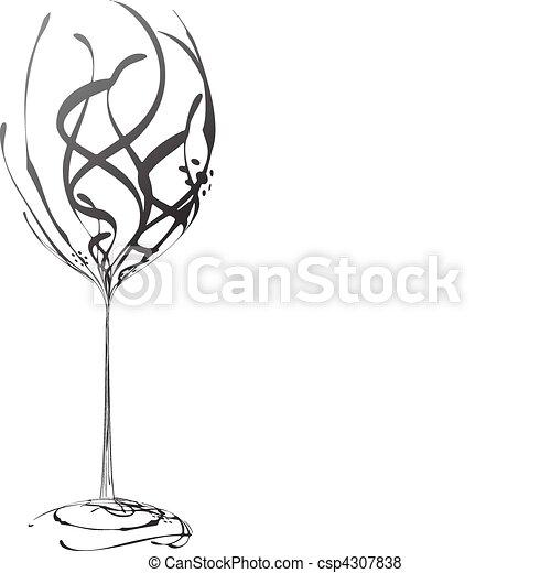 verre vin - csp4307838