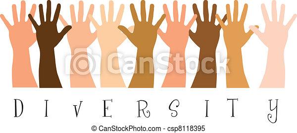 verscheidenheid, handen - csp8118395