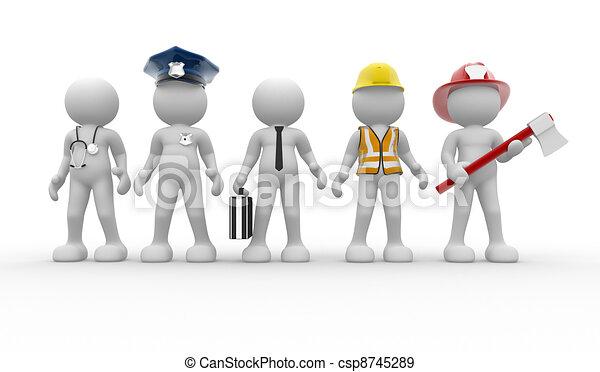 Verschiedene Berufe - csp8745289