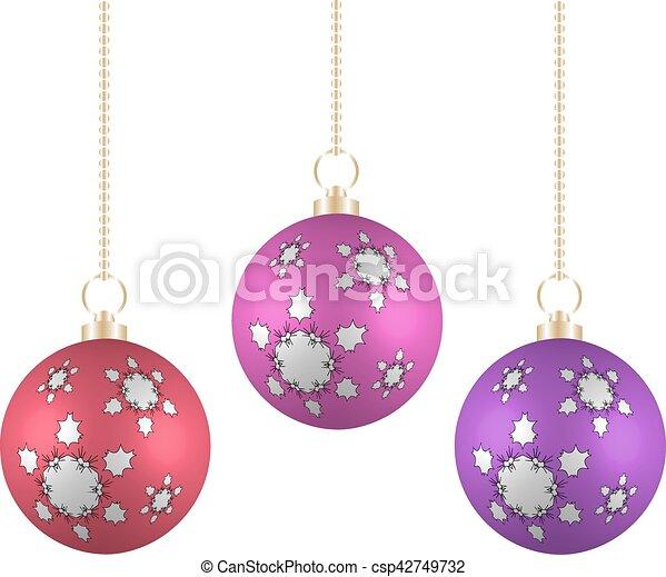 Verschieden, kugeln, farben, hintergrund, weißes weihnachten ...